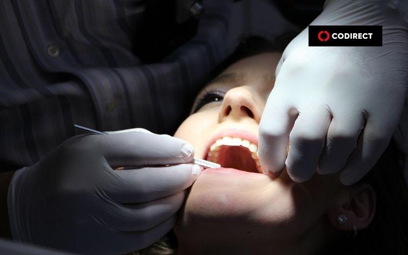 Sessão de trabalho do dentista