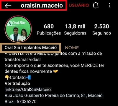 Dentistas clientes da Codirect: OralSin Maceió