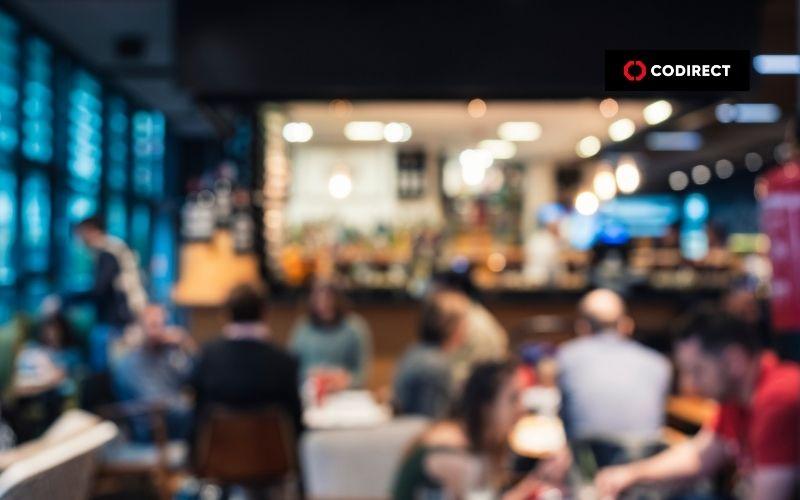 prova social: restaurante lotado